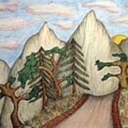 Himalaya Dharamkot Path Poster