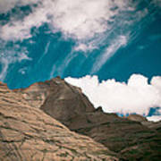 Himalyas Mountains In Tibet With Clouds Poster by Raimond Klavins