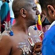Hindu Devotees Prepare For Thaipusam Festival Singapore Poster