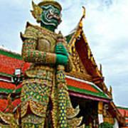 Hindu Figure At Grand Palace Of Thailand In Bangkok Poster
