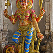 Hindu Goddess Durga On Lion Poster