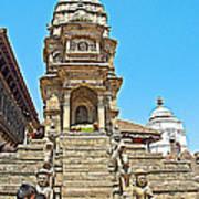 Hindu Temples In Bhaktapur Durbar Square In Bhaktapur-nepal Poster