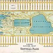 Hinrichs Guide To Central Park 1875 Poster
