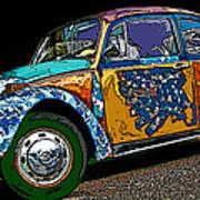 Hippie Vw Bug Poster