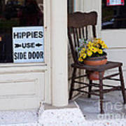 Hippies Use Side Door Poster by Louise Heusinkveld