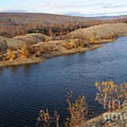 Historic Alaska Gold Dredge In Fall Poster