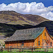 Historic Barn - Wasatch Front Poster