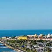 Historic Cartagena And Sea Poster