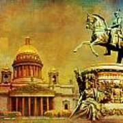 Historic Center Of Saint Petersburg Poster