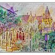 Historic Churches St Louis Mo - Digital Effect 5 Poster