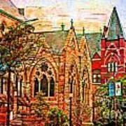 Historic Churches St Louis Mo - Digital Effect 6 Poster