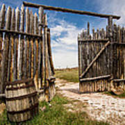 Historic Fort Bridger Gate - Wyoming Poster
