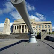 Historic Gun And Auckland War Memorial Poster