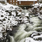 Historic Harrisville Nh In Winter Poster