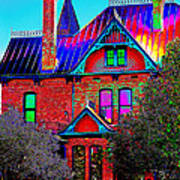 Historic House Pop Art Poster