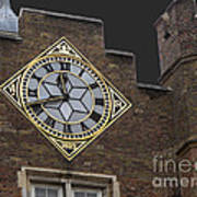 Historic London Clock Poster
