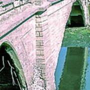 Historic Venice Canal Bridge In California Falling Apart In 1970. Poster