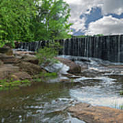 Historic Yates Mill Dam - Raleigh N C Poster
