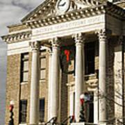 Historical Athens Alabama Courthouse Christmas Poster