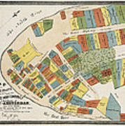 Historical Map Of Manhattan Poster