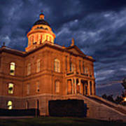 Historical Placer County Courthouse Poster