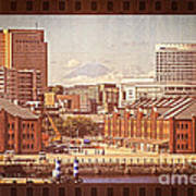 Historical Red Brick Warehouses Poster