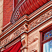 Hoboken Brownstone Art Poster