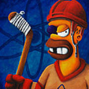 Hockey Homer Poster by Marlon Huynh