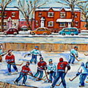 Hockey Rink At Van Horne Montreal Poster