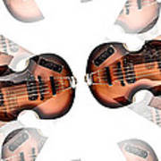 Hofner Bass Abstract Poster