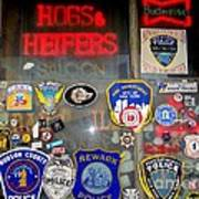 Hogs And Heifers Window Poster