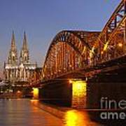 Hohenzollernbrucke In Cologne Poster