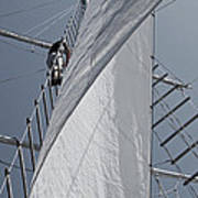 Hoisting The Mainsails Poster
