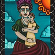 Holding Diegito Poster by Victoria De Almeida
