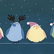 Holiday Birds Poster