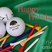 Holiday Golf Poster