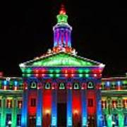 Holiday Lights 2012 Denver City And County Building G1 Poster