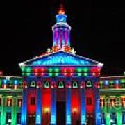 Holiday Lights 2012 Denver City And County Building G2 Poster