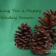 Holiday Pine Cones Poster