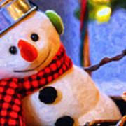 Holiday Snowman Poster