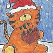 Holiday Tiger Poster