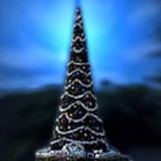 Hollywood Xmas Tree Walt Disney World Poster