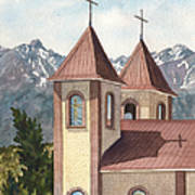 Holy Family Catholic Church In Fort Garland Colorado Poster