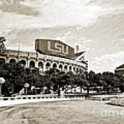 Home Field Advantage - Sepia Toned Texture Poster