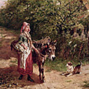 Home From Market Poster by Edgar Bundy