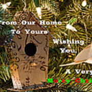 Home In The Tree W Text Poster