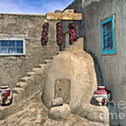 Home On Taos Pueblo Poster