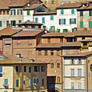 Homes In Cortona Poster