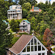 Homes On Mt. Harrison-smoky Mountains Gatlinburg Tennesse Poster