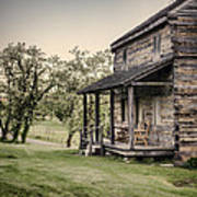 Homestead At Dusk Poster by Heather Applegate